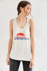 Urban Outfitters California Sunset Muscle Tee Ivory