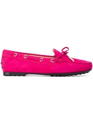 Tod's 'City Flake' Loafers Pink Purple