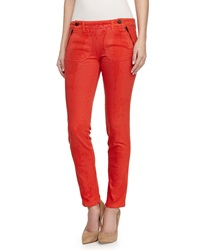 Stella Mccartney Skinny Button Detail Ankle Pants
