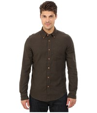 Deus Ex Machina Albie Brushed Long Sleeve Shirt Forest Men's Long Sleeve Button Up Green