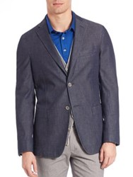 Saks Fifth Avenue Soft Denim Sportcoat Blue