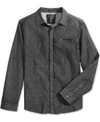 Guess Men's Moto Shirt Rinse