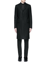Givenchy Belted Wool Blend Coat Black
