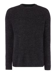 Label Lab Men's Whiston Tonal Mix Knit Black
