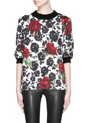Dolce And Gabbana Rose Brocade Sweatshirt Multi Colour