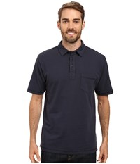 Woolrich First Forks One Pocket Polo Deep Indigo Men's Short Sleeve Pullover Gray