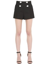 Boutique Moschino Stretch Cotton Satin Shorts