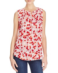 Nydj Sleeveless Pleat Back Top Apples Red