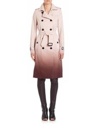 Burberry Double Breasted Degrade Trenchcoat Ice Pink Deep Claret
