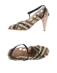 Acrobats Of God High Heeled Sandals Military Green