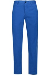 Etoile Isabel Marant Loane Cotton Twill Tapered Pants Cobalt Blue