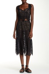 For Love And Lemons Rosalita Skirt Black