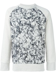 Christopher Raeburn Tooth Print Sweatshirt Nude And Neutrals