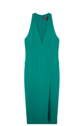 Cushnie Et Ochs Plunge Neck Dress Green