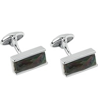 Links Of London Black Mother Of Pearl Double Cufflinks