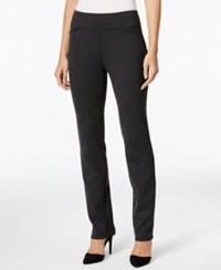 Charter Club Petite Cambridge Tummy Control Ponte Leggings Only At Macy's Heather Onyx
