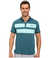 Nike Court Dry Advantage Tennis Polo Midnight Turquoise Midnight Turquoise Men's Clothing Green