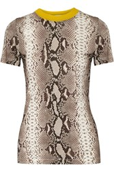 Carven Snake Print Stretch Jersey T Shirt Animal Print