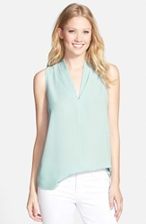 Women's Pleione Layered V Neck Sleeveless Blouse Blue Raindrop