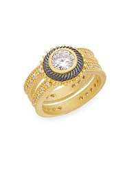 Freida Rothman Nautical Rope Ring Gold