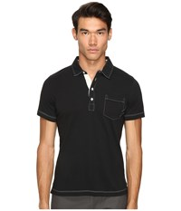 Billy Reid Pensacola Polo Black Men's Clothing