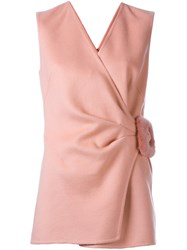 Ermanno Scervino Buckled Detail Sleeveless Blouse Pink And Purple