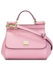 Dolce And Gabbana 'Sicily' Tote Pink And Purple