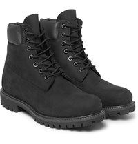 Timberland Premium Waterproof Leather Trimmed Nubuck Boots Black