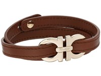 Salvatore Ferragamo Double Wrap With Gancini Bracelet 545054 Pelle Bark