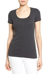 Women's Caslon Short Sleeve Scoop Neck Tee Heather Dark Grey