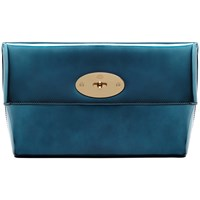 Mulberry Clemmie Clutch Bag Mirror Midnight Blue