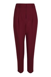 Topshop Textured Mensy Peg Trousers Rust