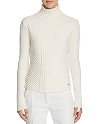 Tory Burch Inez Ribbed Turtleneck Sweater New Ivory