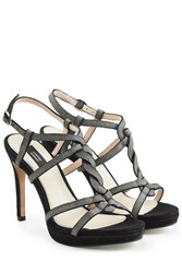 Steffen Schraut Leather T Strap Sandals Black