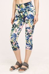 Anthropologie Palm Performance Crops Pink