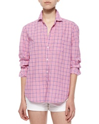Frank And Eileen Eileen Long Sleeve Plaid Cotton Shirt Red