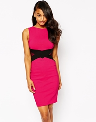 Vesper Georgina Dress With Contrast Waistband Pink