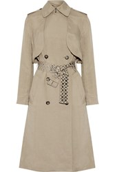 Alexander Wang Brushed Twill Trench Coat Mushroom