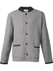 Tomas Maier Patch Pocket Cardigan Grey