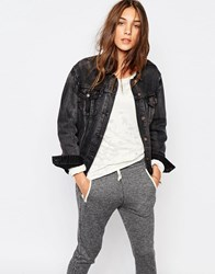 Pull And Bear Pullandbear Denim Oversized Jacket Black