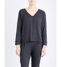 Eberjey Annia Stretch Jersey Top Charcoal