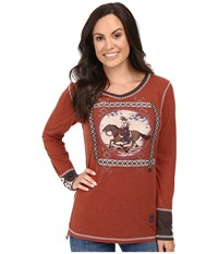 Double D Ranchwear Gaucho And His Horse Tee Spitfire Women's T Shirt Black