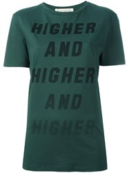 Etre Cecile 'Higher And Higher' T Shirt Green