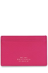 Smythson Leather Card Holder Pink