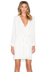 Three Eighty Two Lana Surplice Dress Ivory