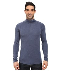 Smartwool Nts Mid 250 Zip T Top Dark Blue Steel Heather Men's Long Sleeve Pullover
