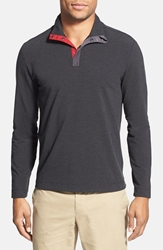 Victorinox Slim Fit Mock Neck Cocona Polo Shirt Online Only Charcoal