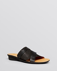 Paul Green Flat Slide Platform Sandals Bayside Black