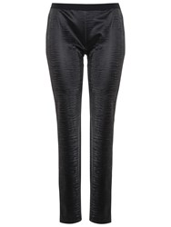 French Connection Lacquer Faux Leather Leggings Black