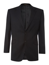 Simon Carter Formal Single Breasted Wool Jacket Navy